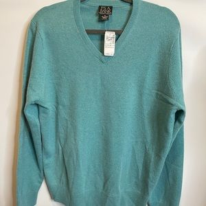 Jos. a. Bank cashmere v cashmere green pullover M
